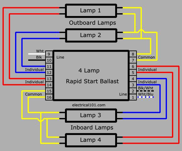 multiple ballast wiring diagram