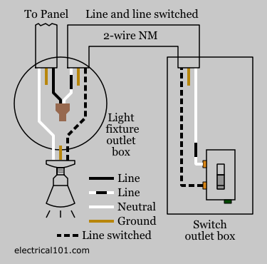 wiring diagram 3 way switch power to light