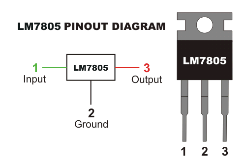 internal block diagram of 7805 regulator