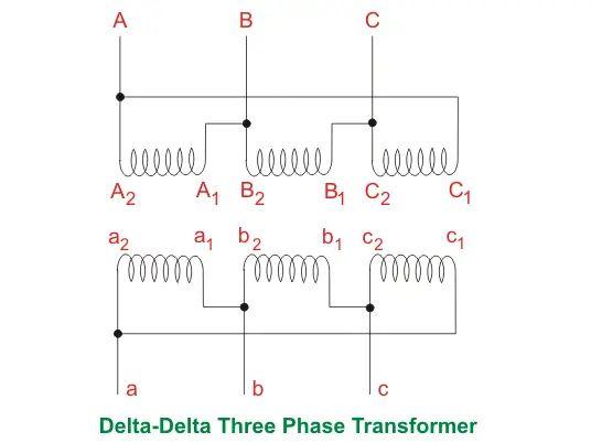 3 phase delta transformer wiring diagram