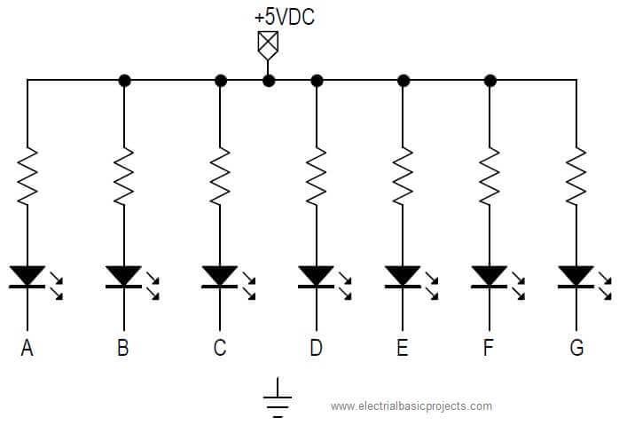 segment display basic electronics