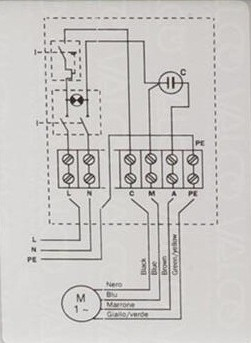 single phase pump motor capacitor wiring diagram