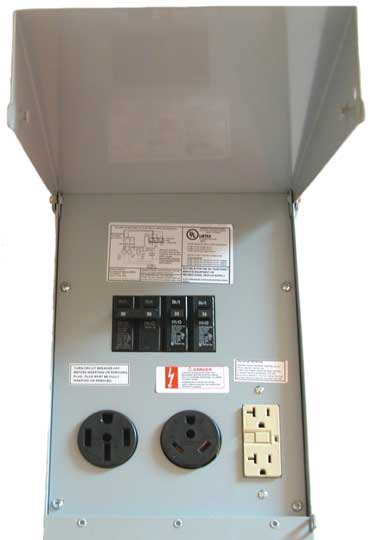 RV Power Pedestals Un-metered Electrical Materials Company