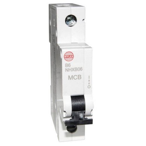 Wylex NHXB06 6 Amp MCB fuse (Replacement for NSB06)
