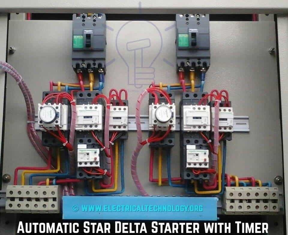 Star Delta Starter - (Y-Δ) Starter Power, Control and Wiring Connection