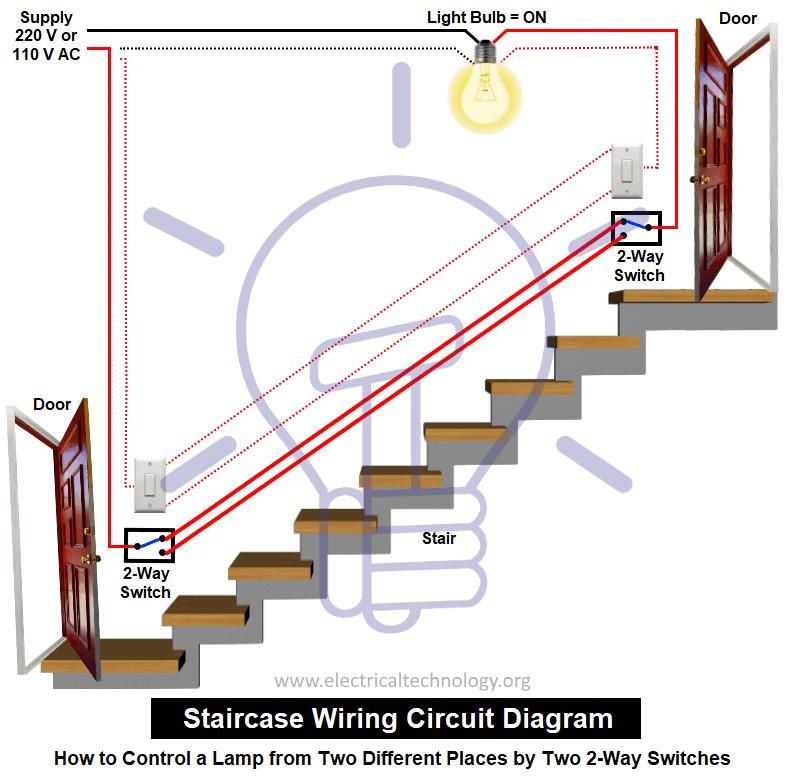 staircase lighting wiring diagram