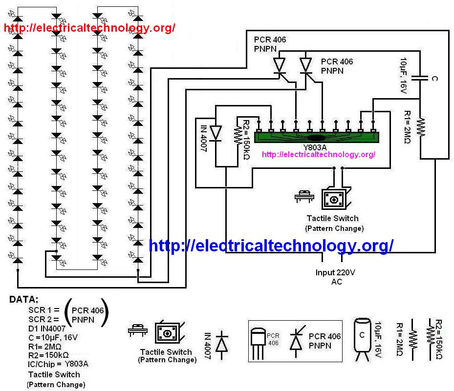 led circuit diagram using breadboard