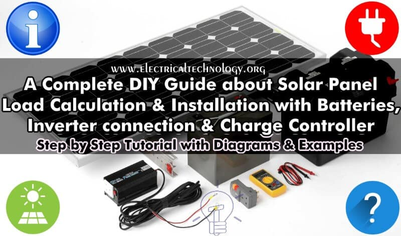 How to Install a Solar Panel ? Design  Calculation - Step by Step
