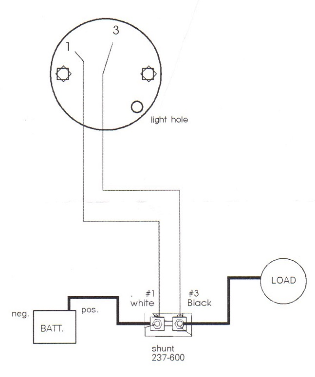 Shunt Diagram Ammeter Alternator Wiring