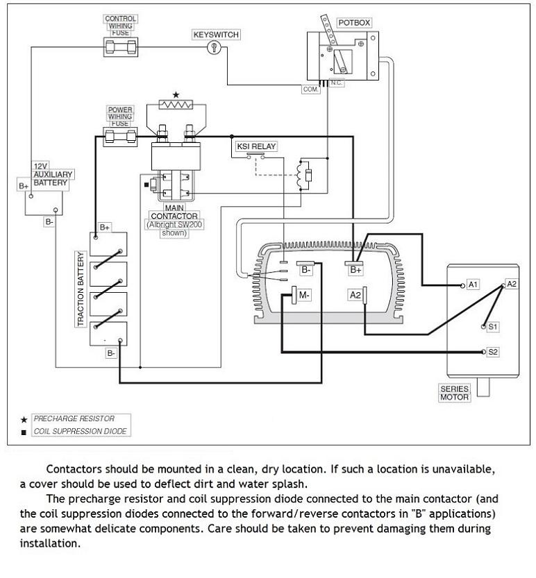 curtis motor controller wiring diagram
