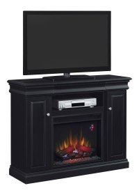 Louie Electric Fireplace Media Console in Black - 23MM9643 ...