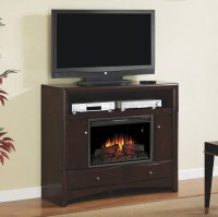Delray Electric Fireplace Media Console in Roasted Walnut ...
