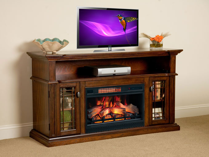 Wallace Cabinet Empire Cherry 26quot Infrared Firebox