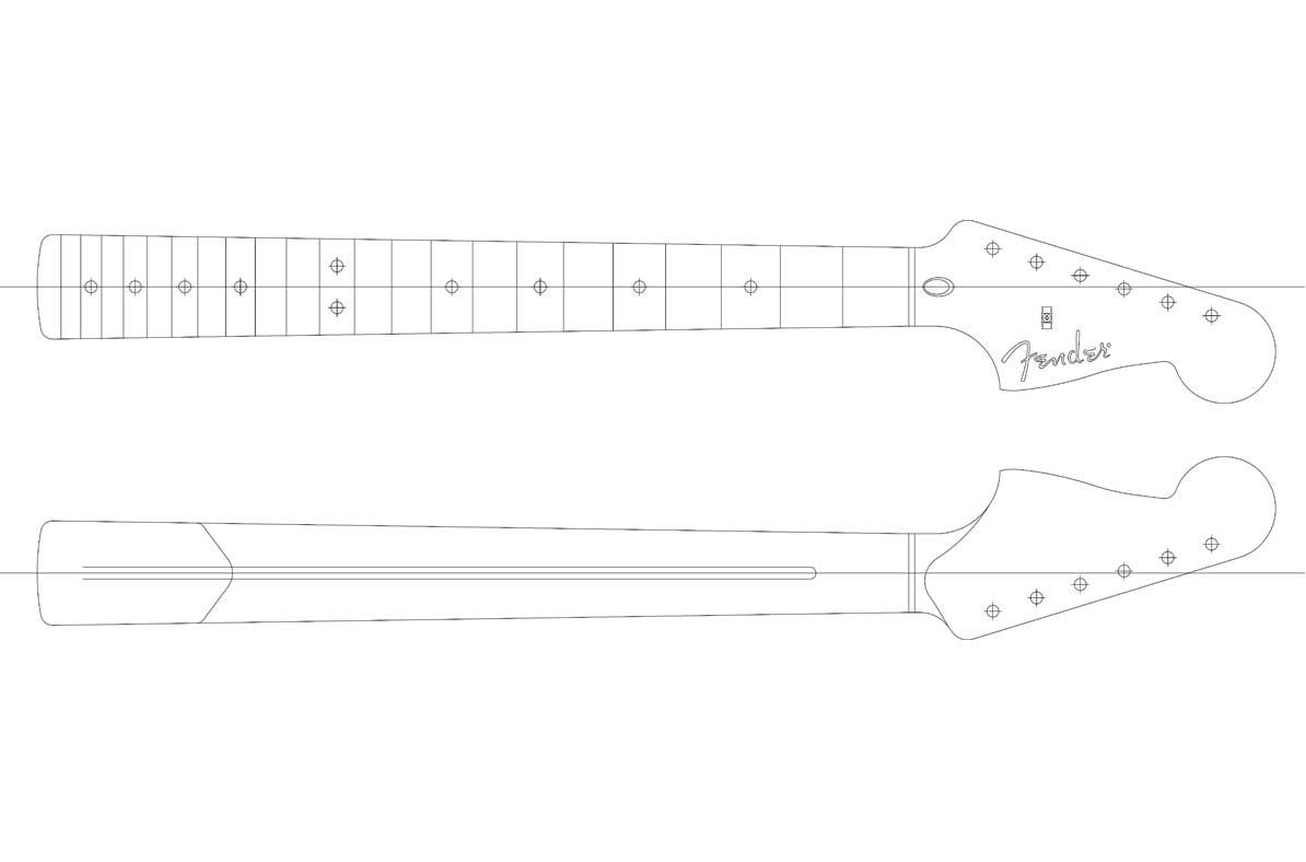 Fender Neck Template - Costumepartyrun
