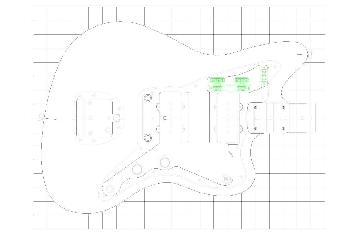 Fender Bass Vi Wiring Diagram Fender Jazzmaster Guitar Templates Electric Herald