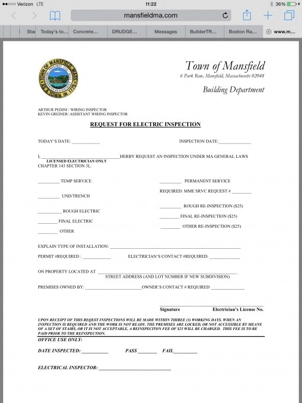Electrical inspection request form - Electrician Talk - Professional - software request form