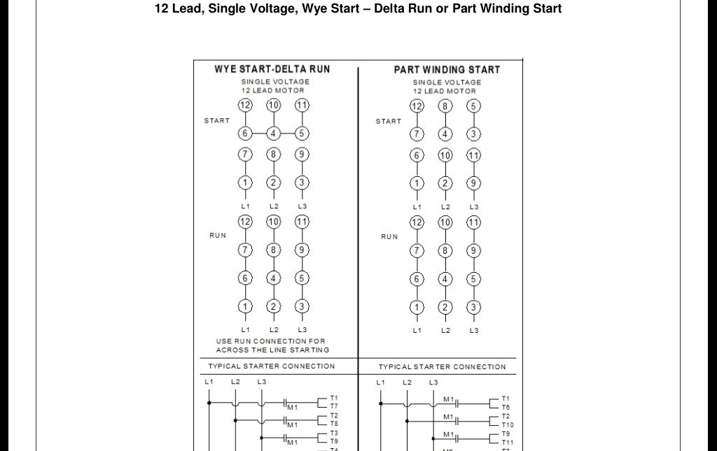 Motor Wiring Diagram 3 Phase 12 Wire Wiring Diagram Library