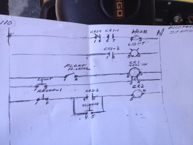 Wiring up silence and reset for buzzer for low flow controls