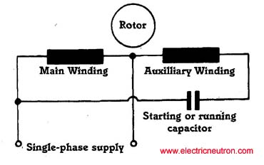 single phase capacitor run motor wiring diagram