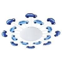 Viki 1 Blue and White Boys Ceiling Light ...