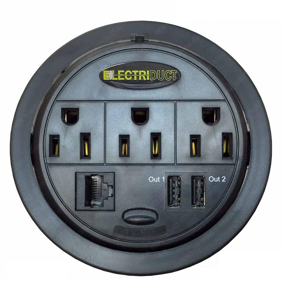 120v Receptacle Wiring Powertap Grommet Power Amp Data Distribution Center Ubs