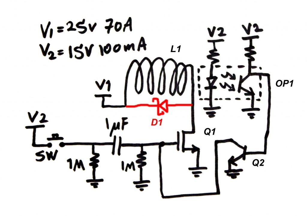 gauss gun schematic i designed this coil gun