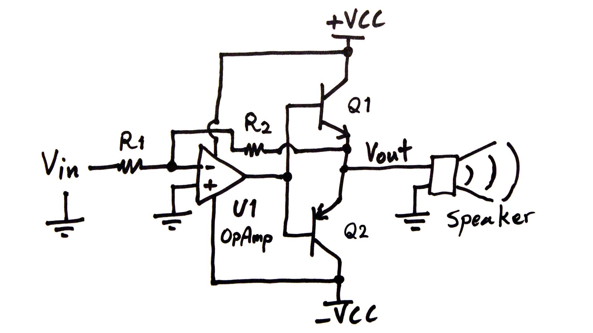 opamp audio amplifier