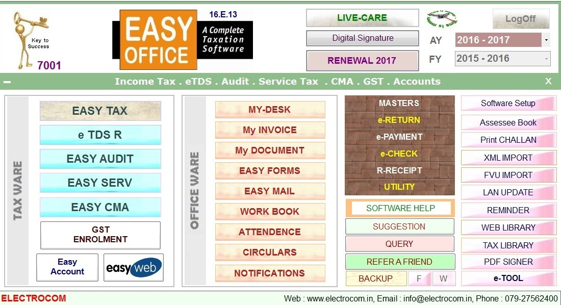 Easyoffice - A Complete Taxation Software