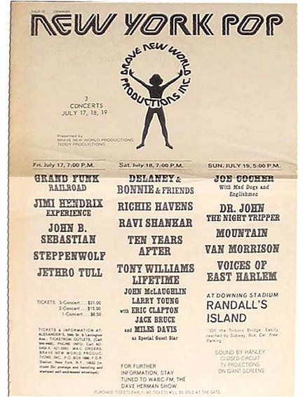 The Randallu0027s Island, NY Pop Festival 07171970 Music - ivory resume paper