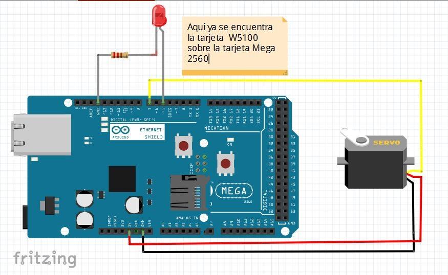 Arduino Ethernet W5100 and Servo Motor