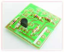 Foto 4. Respetar la polaridad del transistor.