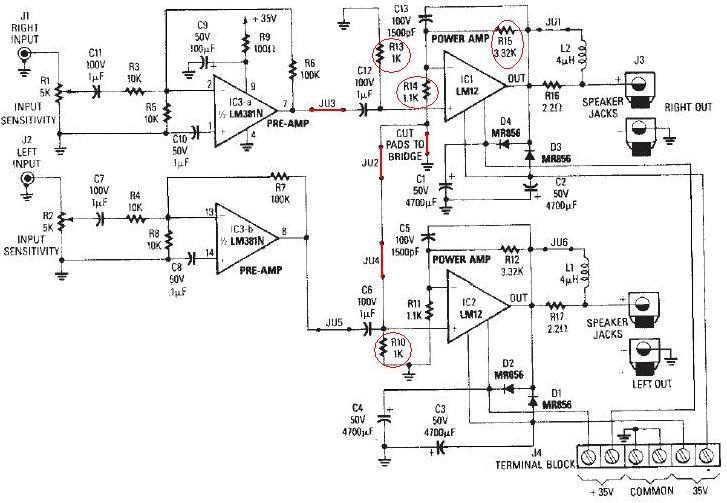 lm12 150w audio amplifier