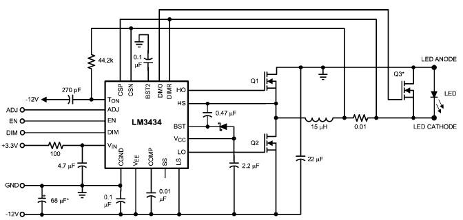 led driver circuit schematic