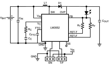 LM3552 white LED driver circuit design