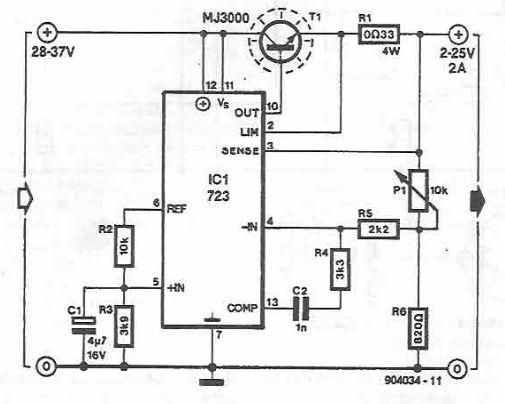 purpose power supply using lm723