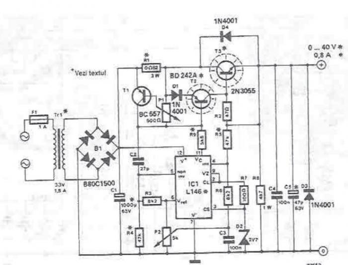 lm723 variable power supply circuit design project images frompo
