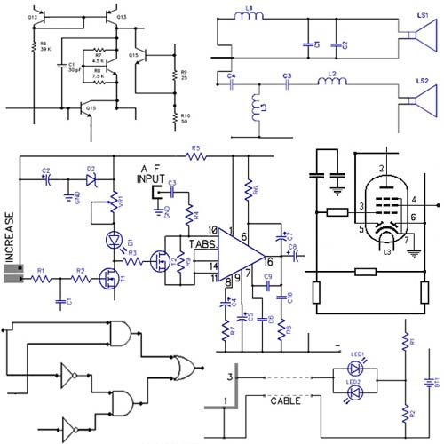 electronic circuit projects diagram