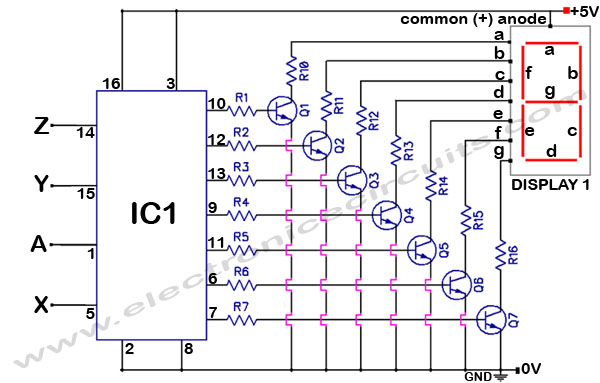 4033 7 Segment Common Anode Display Counter Electronic Circuits
