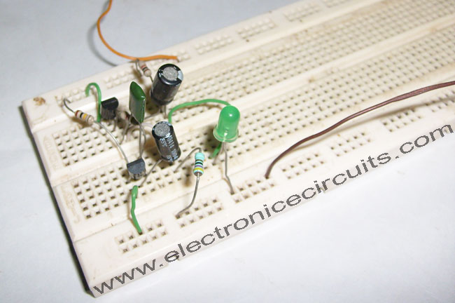 15v One Battery LED Light Flasher Circuit Diagram Electronic Circuits