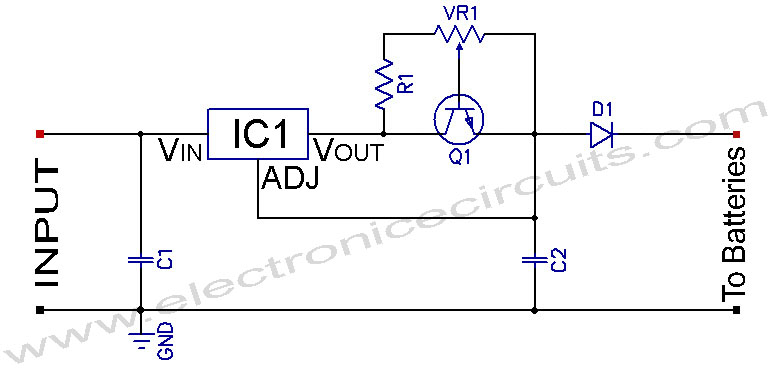 Ni-MH Ni-Cd Adjustable Constant Current Charger Electronic Circuits