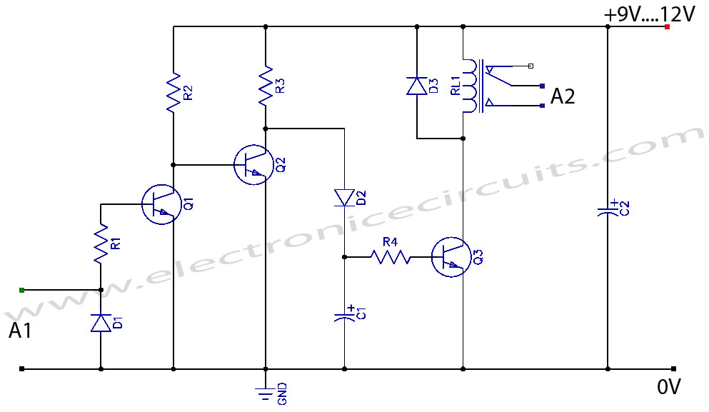 relay flasher circuit circuit diagram