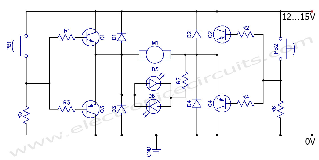 H Bridge Circuit Diagram Dc Motor Wiring Diagram