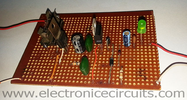 7805 5V 1A Regulated Power Supply with Overvoltage Protection