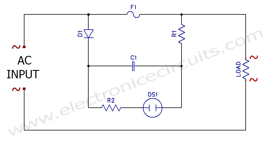 neon lamp circuit diagram