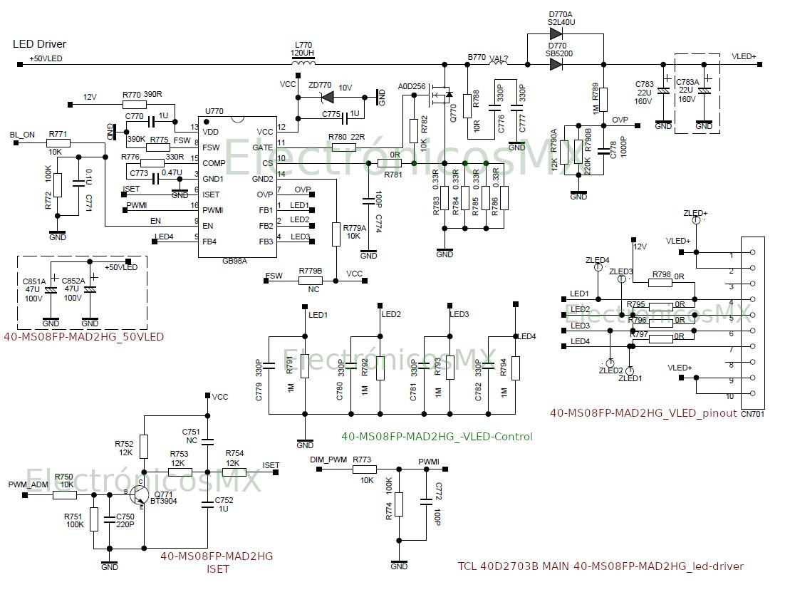 hisense 40k20d diagrama