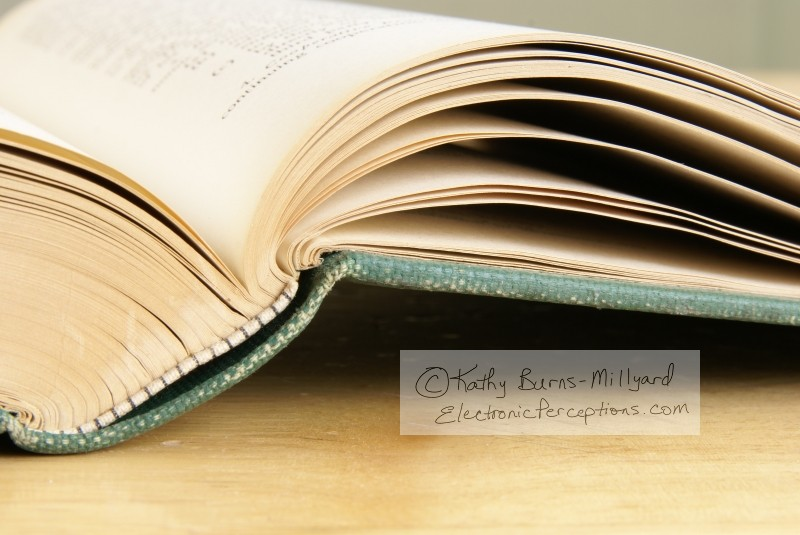 Open Book Pages Electronic Perceptions