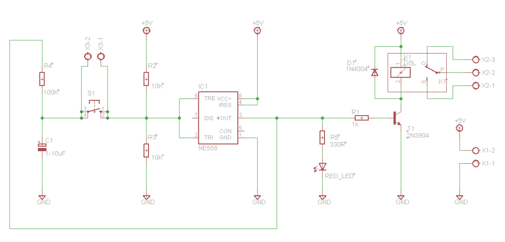 relay toggle switch circuit diagram
