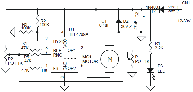 simple basic design of servo motor controller with pulse generator