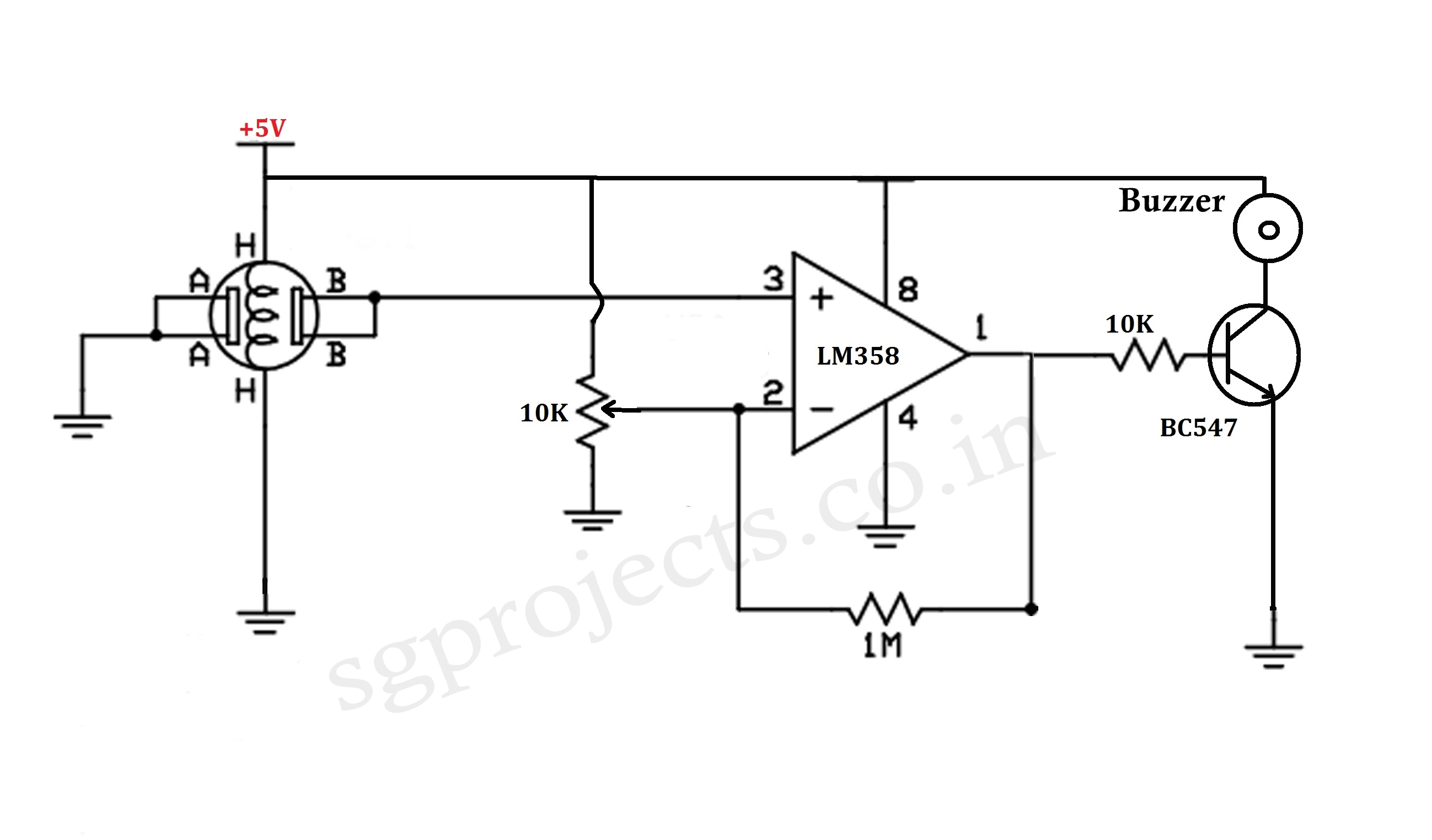 lpg gas sensor circuit