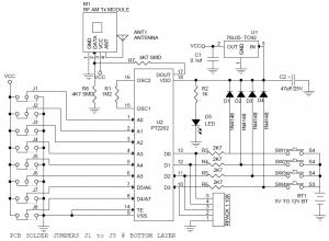 Garage Door Wiring Schematic 4 Channel Rf Remote Controller Electronics Lab